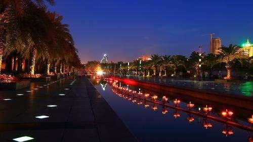 随县厥水河西岸景观照明